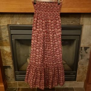 American Eagle Strapless Dress with Pockets